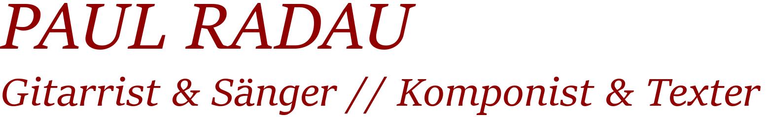 PAUL RADAU